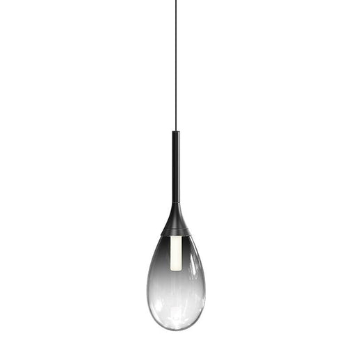 Parisone LED Pendant - Satin Black Finish with Smoke Glass