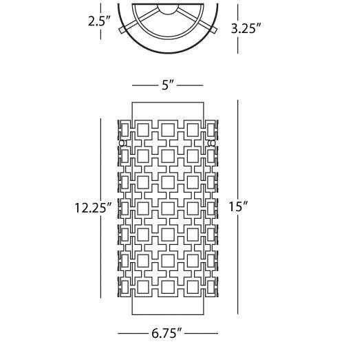 Parker Half Round Wall Sconce - Diagram