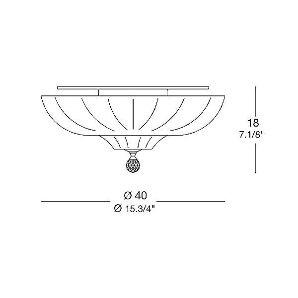 Pascale Ceiling Light - Diagram