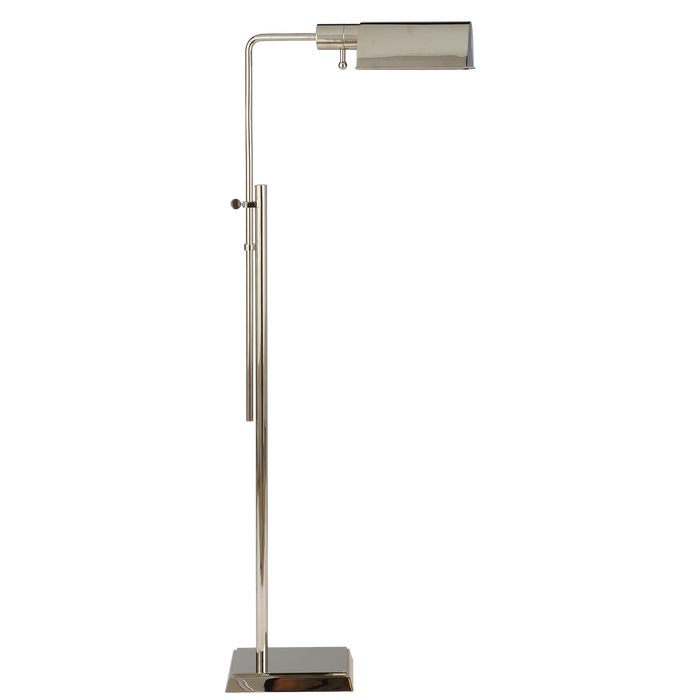 Pask Pharmacy Floor Lamp - Polished Nickel