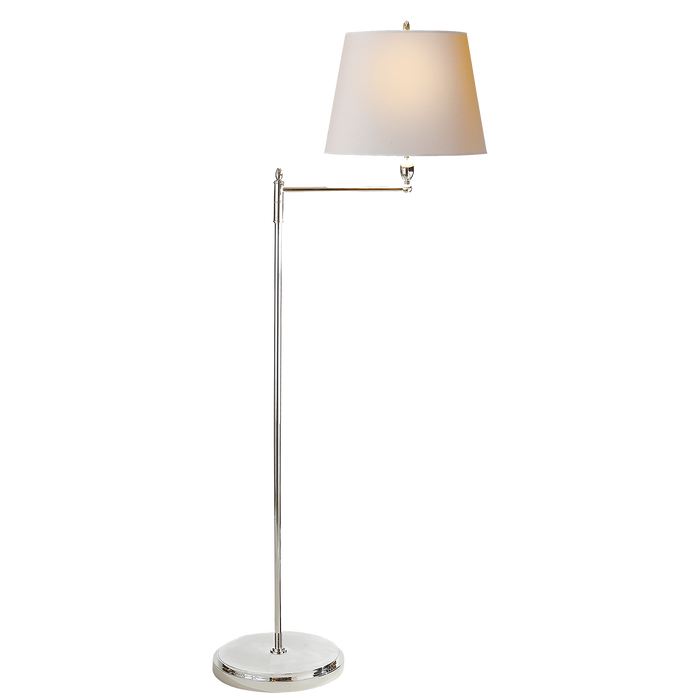 Paulo Floor Light Polished Nickel