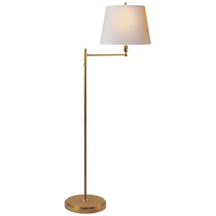 Paulo Floor Light Hand-Rubbed Antique Brass