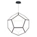 Penta Large LED Pendant - Black