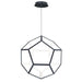 Penta Medium LED Pendant - Black