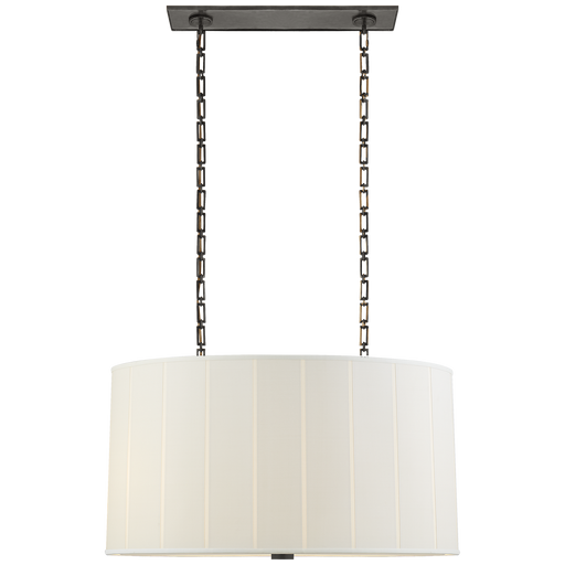 Perfect Pleat Oval Hanging Shade Bronze