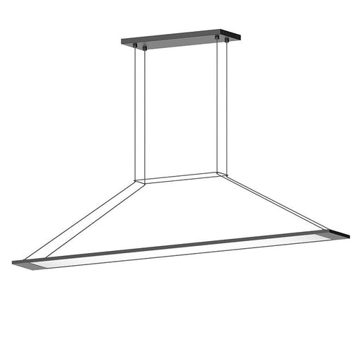 Perfile LED Linear Suspension - Satin Black Finish