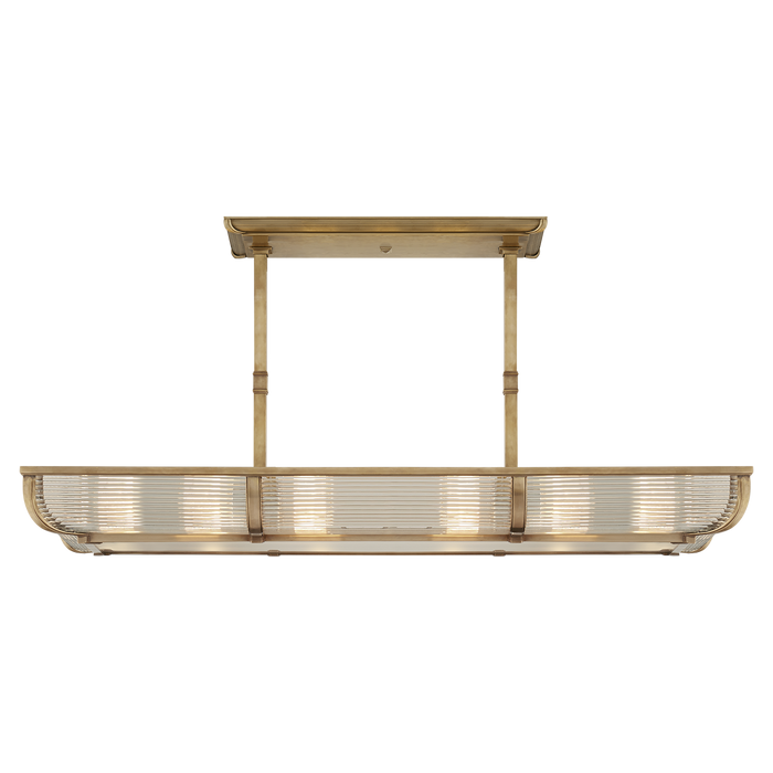 Perry Medium Linear Pendant - Natural Brass