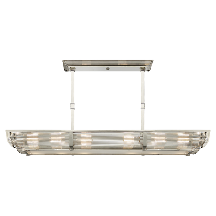Perry Medium Linear Pendant - Polished Nickel