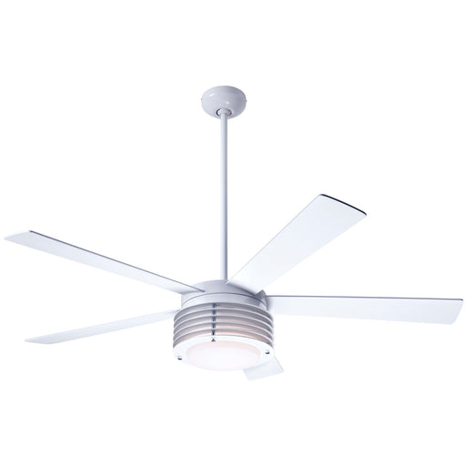 Pharos Ceiling Fan - Gloss White/White Blades