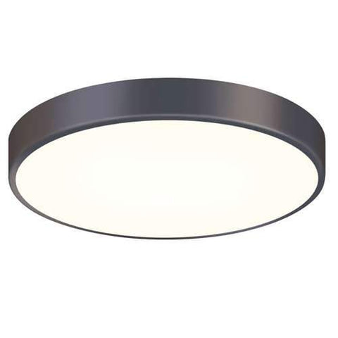 Pi 16 Inch LED Flush Mount Black Bronze