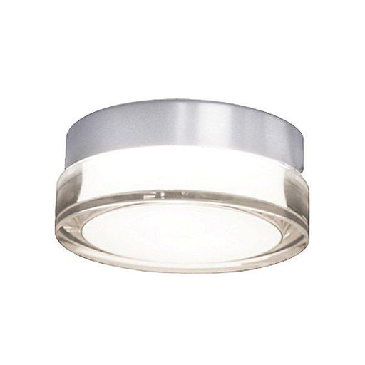 "Pi 6"" LED Round Flush Mount - Stainless Steel Finish"