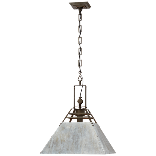 Pierre Medium Pendant - Vintage Steel and Oxidized Gray Finish