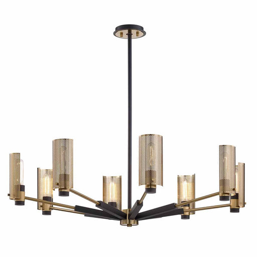 Pilsen 8-Light Chandelier - Brass/Bronze Finish