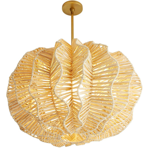 Pismo Pendant - Natural/Antique Brass Finish