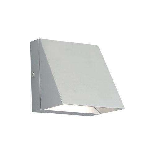 Pitch Single LED Wall Light - Silver Finish