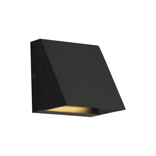 Pitch Single LED Wall Light - Black Finish
