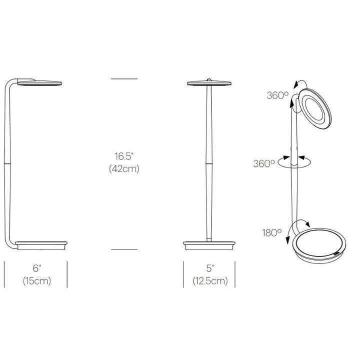 Pixo Plus Table Lamp - Diagram