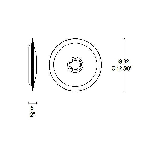 Planet LED Wall/Ceiling Light - Diagram