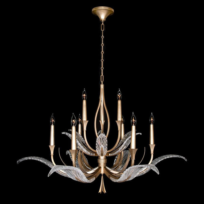 Plume Chandelier - Gold Leaf Finish