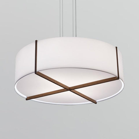 "Plura 36"" Pendant Light - Frosted / Oiled Walnut"