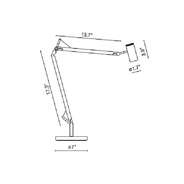 Polo Desk Lamp - Diagram