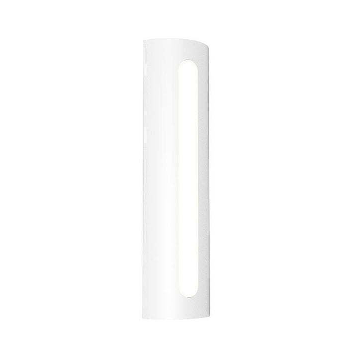 "Porta 18"" LED Outdoor Wall Sconce - Textured White Finish"