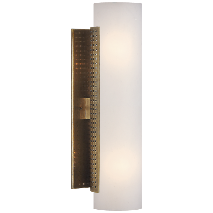 Precision Cylinder Sconce - Antique-Burnished Brass