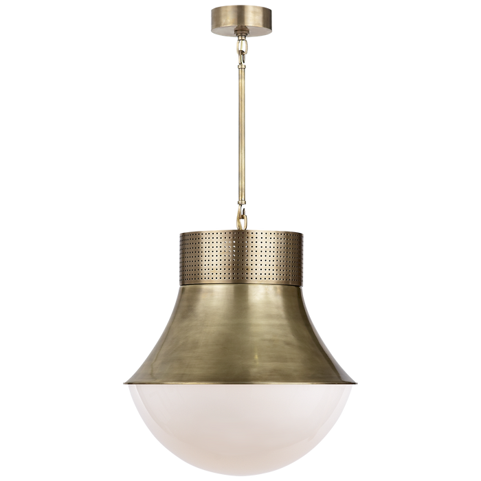 Precision Large Pendant - Antique Burnished Brass