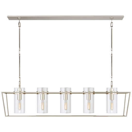 Presidio Large Linear Lantern - Polished Nickel Finish