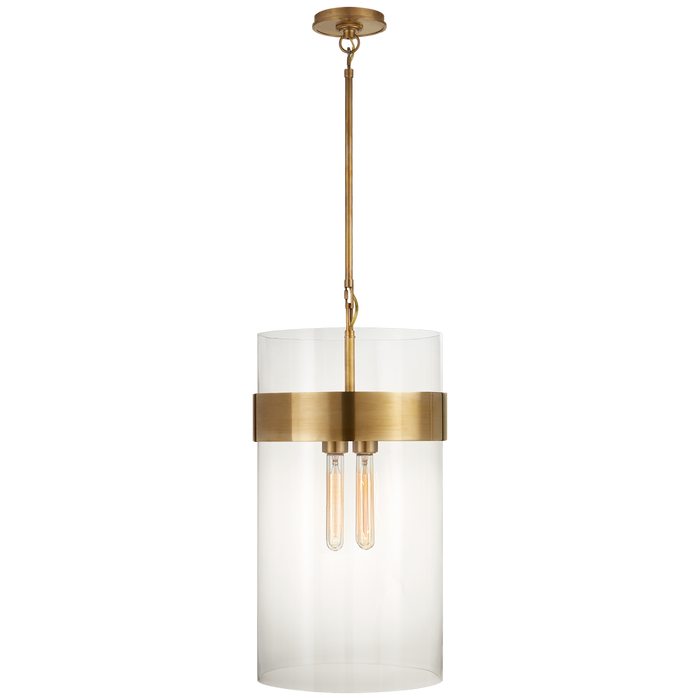Presidio Medium Pendant - Hand-Rubbed Antique Brass Finish