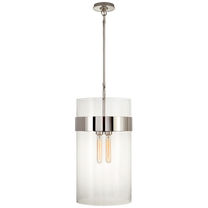 Presidio Medium Pendant - Polished Nickel Finish