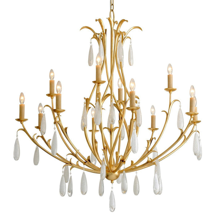 Prosecco Large Chandelier - Gold Leaf Finish