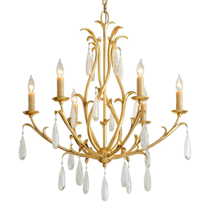 Prosecco Small Chandelier - Gold Leaf Finish