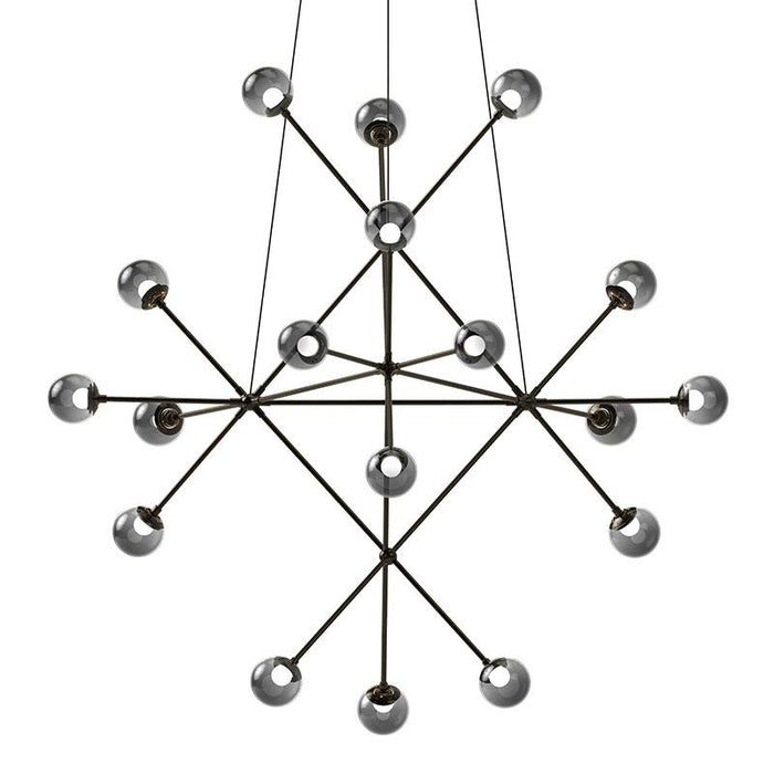 Proton Beta LED Pendant - Polished Black Nickel Finish with Smoke Glass