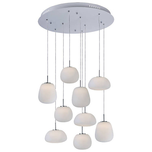 Puffs LED 9-Light Pendant - Polished Chrome