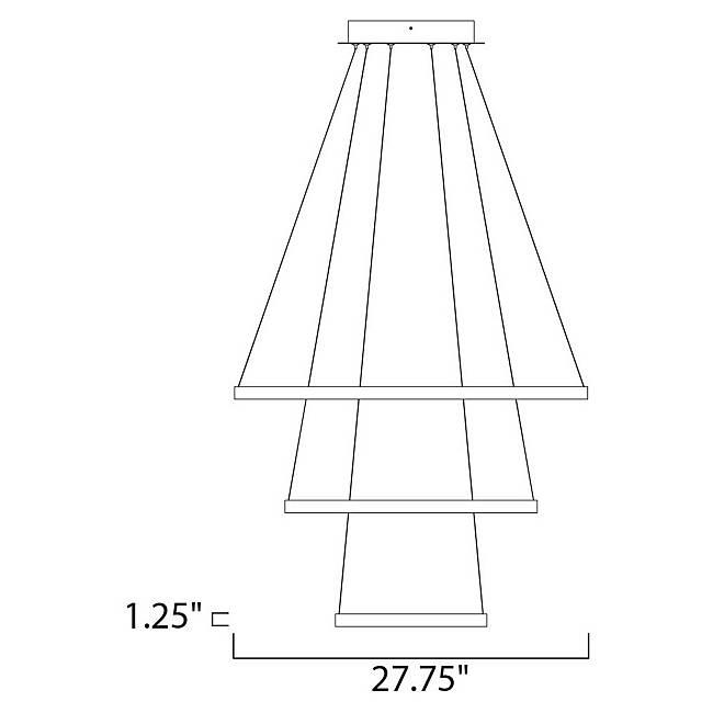 Quad 3 Tier LED Pendant - Diagram