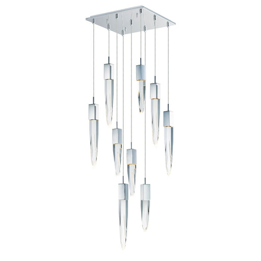 Quartz 9-Light Pendant - Polished Chrome