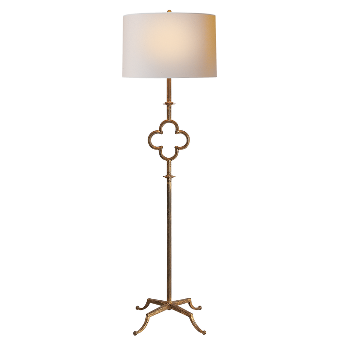 Quatrefoil Floor Lamp - Aged Iron