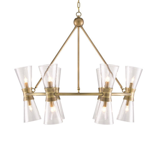 Quennell Chandelier - Antique Brass Finish