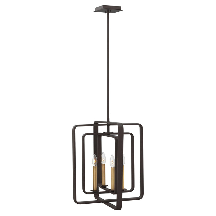 Quentin Pendant - Buckeye Bronze with Heritage Brass Accents