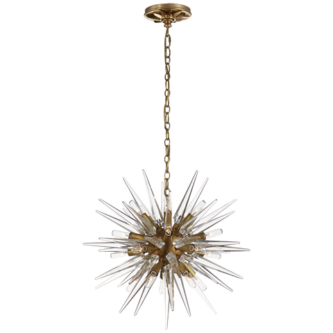 Quincy Small Sputnik Chandelier Brass