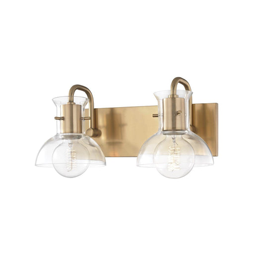 "RILEY 14.5"" BATHROOM VANITY Aged Brass"