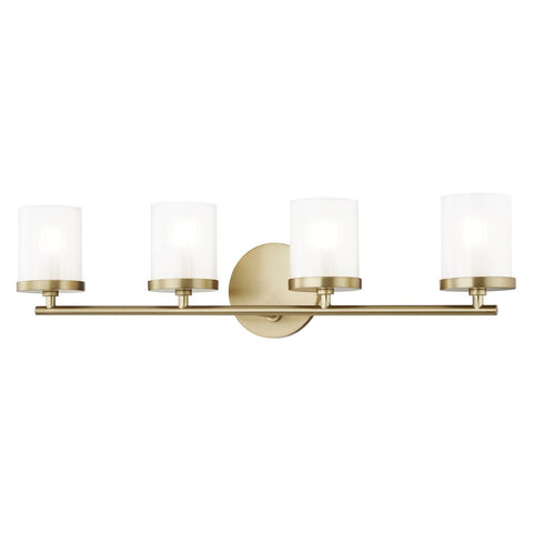 RYAN BATHROOM VANITY 4 LIGHT Aged Brass