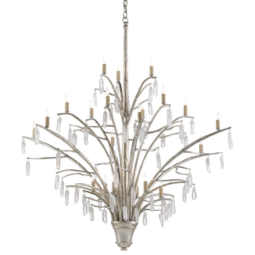 Raux Chandelier - Silver Leaf Finish