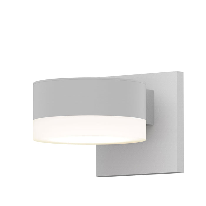 Reals Cylinder Outdoor Wall Sconce - Textured White / White Cylinder / Downlight