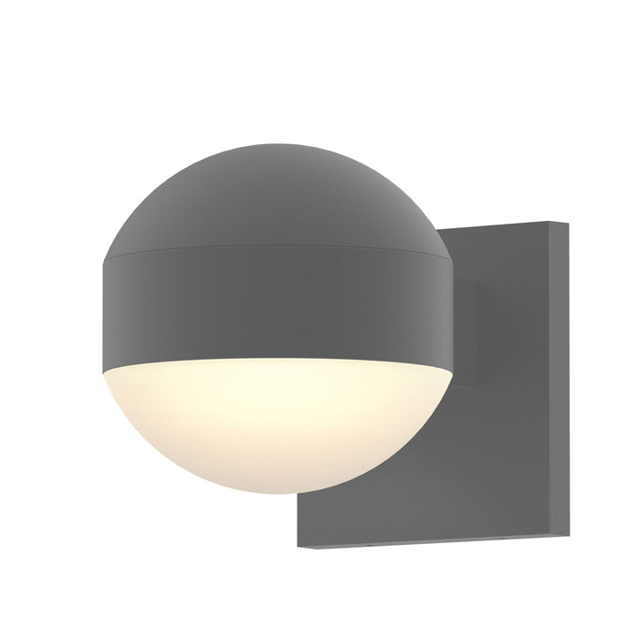 Reals Dome Downlight Outdoor Wall Sconce - Textured Gray