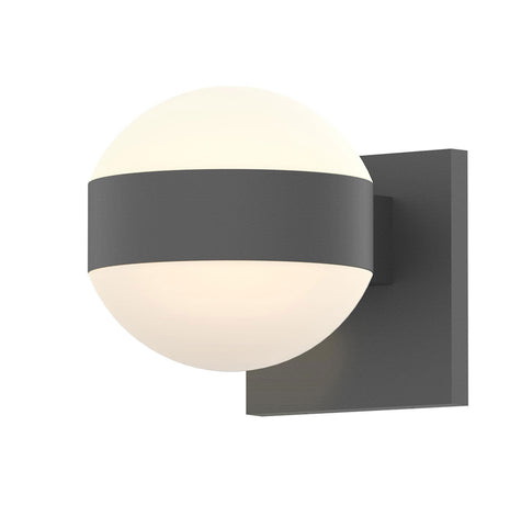 Reals Dome Up/Down Light Outdoor Wall Sconce - Textured Gray