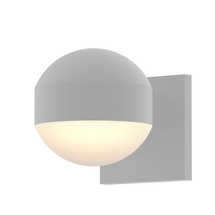 Reals Dome Downlight Outdoor Wall Sconce - Textured White