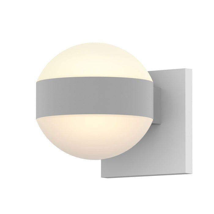 Reals Dome Up/Down Light Outdoor Wall Sconce - Textured White