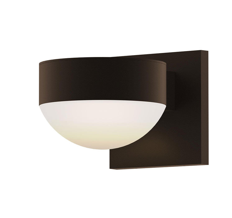 Reals Plate/Dome Outdoor Wall Sconce - Textured Gray
